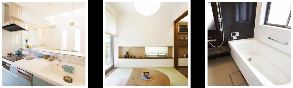 キッチンと和室と浴室